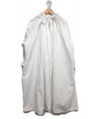 RAY BEAMS(レイビームス)の古着「オーバーサイズプルオーバーブラウスワンピース」|ホワイト