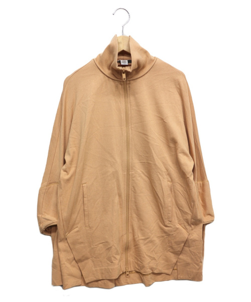 Y-3(ワイスリー)Y-3 (ワイスリー) リブスリーブスウェットジャケット ベージュ サイズ:XXSの古着・服飾アイテム
