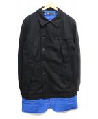 Y-3(ワイスリ)の古着「ライナー付ウールコート」|ブラック×ブルー