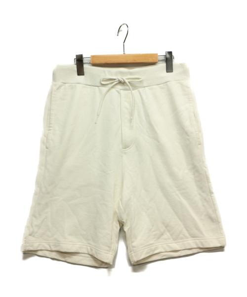 Y-3(ワイスリー)Y-3 (ワイスリ) スウェットハーフパンツ ホワイト サイズ:M 春夏物の古着・服飾アイテム