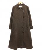 HIROKO KOSHINO(ヒロコ コシノ)の古着「スタンドカラーコート」|ブラウン