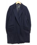 MAX&Co.(マックスアンドコー)の古着「カシミヤ混チェスターコート」|ネイビー