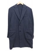 Errico Formicola(エッリコ フォルミコラ)の古着「チェスターコート」|ネイビー