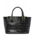 Falchi(ファルチ)の古着「クロコハンドバッグ」|ブラック