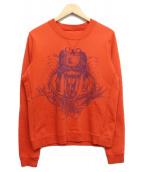 BALENCIAGA(バレンシアガ)の古着「クルーネックスウェット」|オレンジ