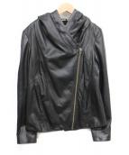 HELMUT LANG(ヘルムートラング)の古着「シープスキンフードジャケット」|ブラック