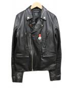 ART COMES FIRST(アートカムズファースト)の古着「ダブルライダースジャケット」|ブラック