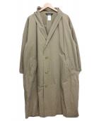 ISSEI MIYAKE(イッセイミヤケ)の古着「オーバーサイズコート」 ベージュ