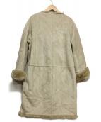 GOUT COMMUN(グーコミューン)の古着「リバーシブルフェイクムートンコート」|ベージュ