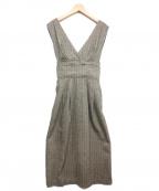 Snidel()の古着「3WAYサスペンダーウールスカート」|ベージュ