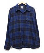 PHERROWS(フェローズ)の古着「チェックシャツ」|ブルー