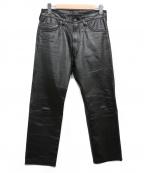 TORNADO MART(トルネードマート)の古着「レザーパンツ」|ブラック