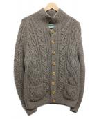 INVERALLAN(インバーアラン)の古着「ケーブルニットカーディガン」|ブラウン