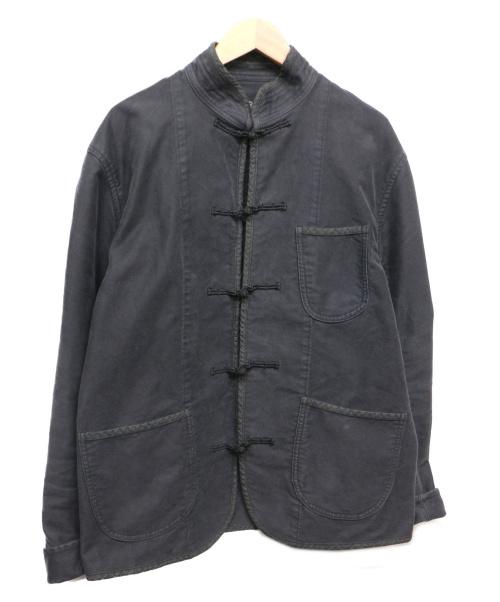 Porter Classic(ポータークラシック)Porter Classic (ポータークラシック) モールスキンチャイナジャケット ブラック サイズ:XLの古着・服飾アイテム