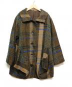 慈雨(ジウ)の古着「デザインウールジャケット」|ブラウン