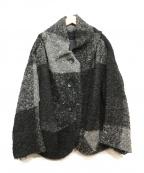 慈雨(ジウ)の古着「ビッグチェックウールジャケット」|ブラック×グレー