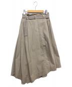 DOUBLE STANDARD CLOTHING(ダブルスタンダードクロージング)の古着「ラップロングスカート」|ベージュ