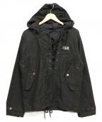 ノーブランド(ノーブランド)の古着「デッキレインパーカー」 ブラック