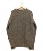 PHIGVEL(フィグベル)の古着「クルーネックニット」|ブラウン