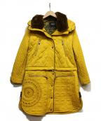 Desigual(デシグアル)の古着「2WAYキルティングコート」|イエロー
