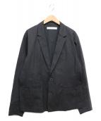MUZE(ミューズ)の古着「リネン混テーラードジャケット」|ブラック