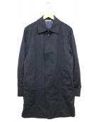 DURBAN(ダーバン)の古着「カシミヤ比翼コート」|ネイビー