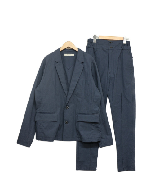 MUZE(ミューズ)MUZE (ミューズ) セットアップリネン混スーツ ネイビー サイズ:1の古着・服飾アイテム