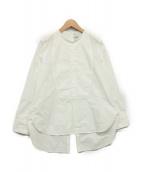 TICCA(ティッカ)の古着「バックスリットビブヨークシャツ」|ホワイト