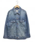 moname(モナーム)の古着「ビックシルエットデニムジャケット」 ブルー