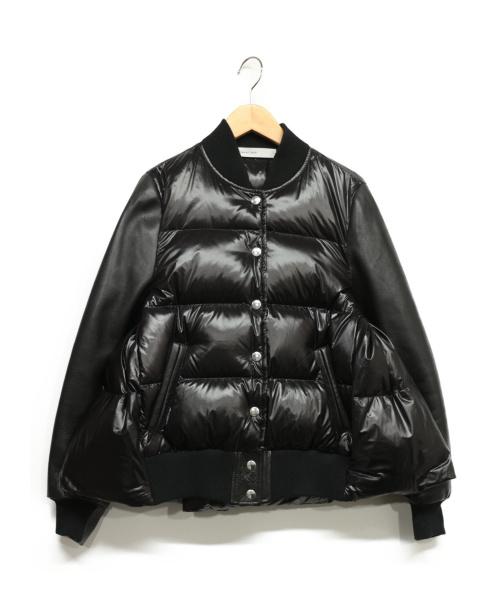 sacai luck(サカイラック)sacai luck (サカイラック) レザースリーブダウンジャケット ブラック サイズ:2の古着・服飾アイテム