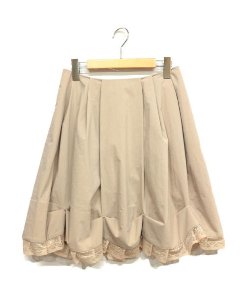 FOXEY NEWYORK(フォクシーニューヨーク)FOXEY NEWYORK (フォクシーニューヨーク) デザインタックスカート アイボリー サイズ:40の古着・服飾アイテム