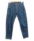 Lee×KRIS VAN ASSCHE(リー×クリスバンアッシュ)の古着「タックデニムパンツ」