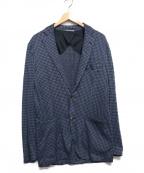 INTERMEZZO(インターメッツォ)の古着「千鳥柄2Bジャケット」|ネイビー