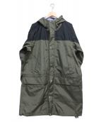 THE NORTH FACE(ザノースフェイス)の古着「Mountain Raintex Coat」|ブラック×オリーブ