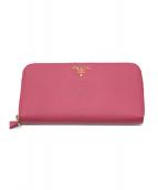 PRADA(プラダ)の古着「ラウンドファスナー長財布」|ピンク
