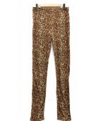 Needles Sportswear(ニードルズスポーツウェア)の古着「レオパードパンツ」|ブラウン