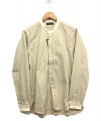 Muller & Bros(ミューラーアンドブロス)の古着「スタンドカラーシャツ」 アイボリー