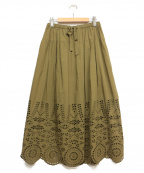 MUVEIL Work(ミュベールワーク)の古着「ロングスカート」 カーキ