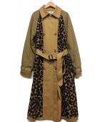 MUVEIL(ミュベール)の古着「デザイントレンチコート」|ベージュ