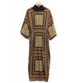 AMERI(アメリヴィンテージ)の古着「バンダナレースワンピース」|ブラック