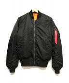 ALPHA INDUSTRES(アルファ インダストリーズ)の古着「リバーシブルMA-1ジャケット」|ブラック
