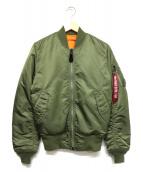 ALPHA INDUSTRES(アルファ インダストリーズ)の古着「リバーシブルMA-1ジャケット」|カーキ