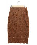 ESTNATION(エストネーション)の古着「レーススカート」|ブラウン
