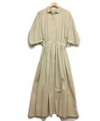 Plage de charme(プラージュ ドゥ シャルム)の古着「シャツワンピース」|アイボリー