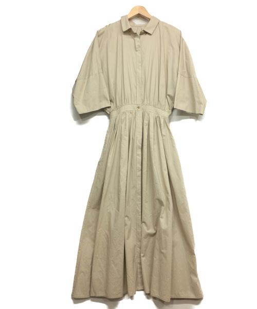 Plage de Charme(プラージュ ドゥ シャルム)Plage de charme (プラージュ ドゥ シャルム) シャツワンピース アイボリー サイズ:38の古着・服飾アイテム