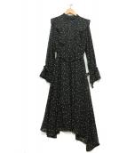 AMERI(アメリヴィンテージ)の古着「スターフリルワンピース」|ブラック