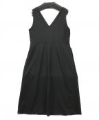 closet story U.A(クローゼット ストーリー ユナイテッド アローズ)の古着「ジョーゼットジャンパースカート」|ブラック