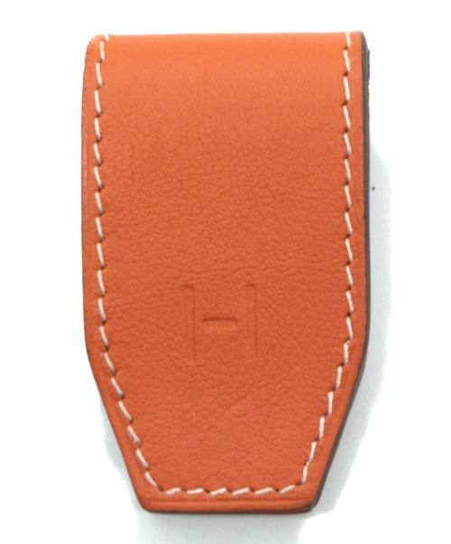 HERMES(エルメス)HERMES (エルメス) マネークリップ オレンジの古着・服飾アイテム