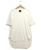 ATON(エイトン)の古着「ラウンドヘムTシャツ」|ホワイト