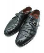 ALDEN(オールデン)の古着「モンクストラップシューズ」|ブラック